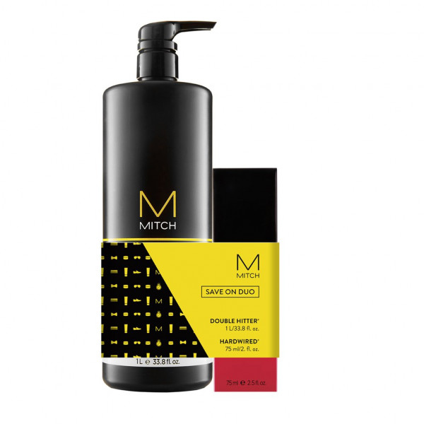 PAUL MITCHELL Save Big Duo MITCH DOUBLE HITTER 1000ml + Hardwired 75ml