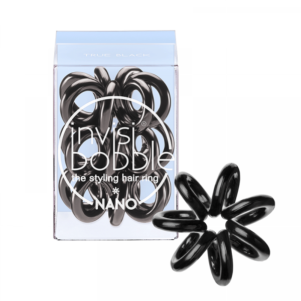 InvisiBobble Nano True Black 3 Gummis